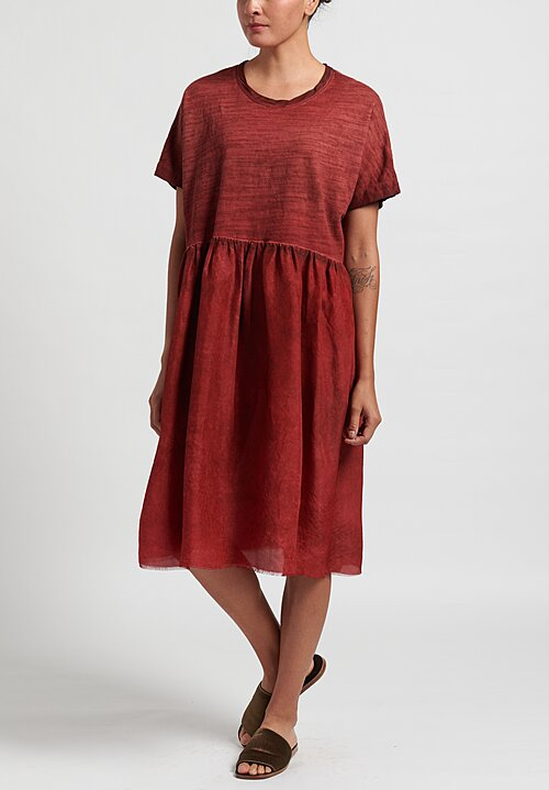 Uma Wang Dana Dress	in Red