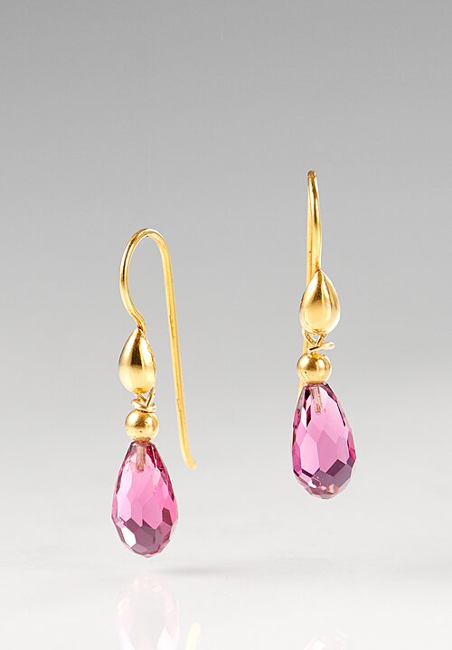 Greig Porter 18K, Rubellite Teardrop Earrings