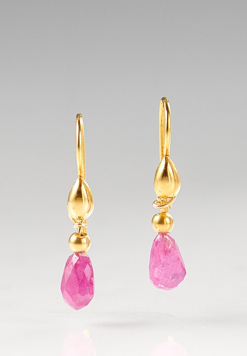 Greig Porter 18K, Ruby Teardrop Earrings
