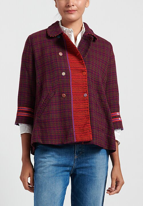 Pero Wool Checkered Jacket