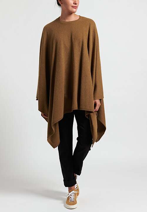Frenckenberger Cashmere Airplane Poncho in Brass