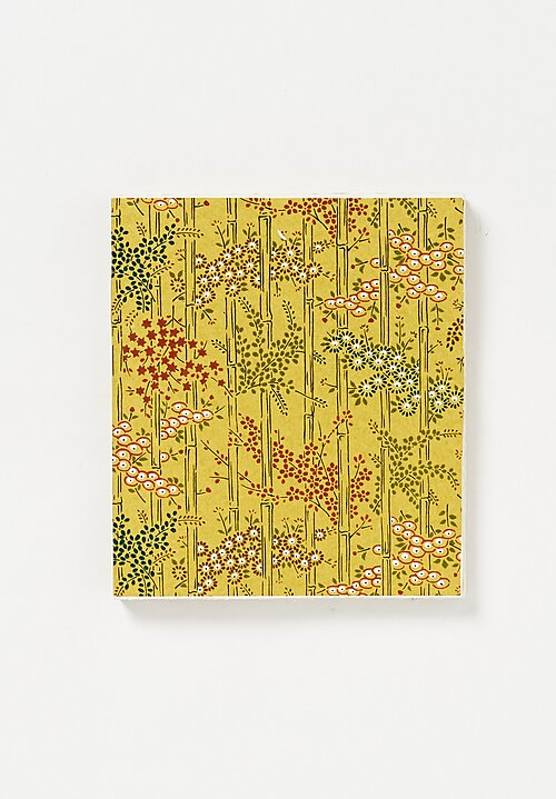 Elam Handprinted Japanese Chiyogami Paper Notebook in Bamboo