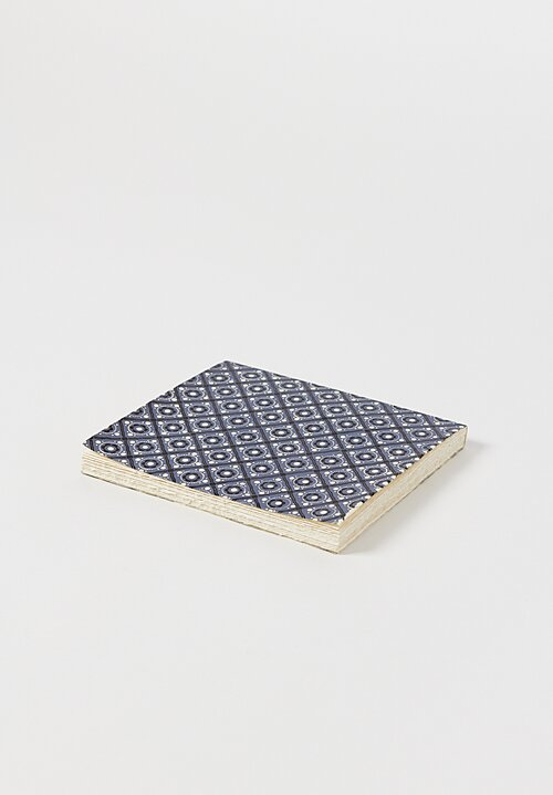 Elam Handprinted Japanese Chiyogami Paper Notebook Blue Lace