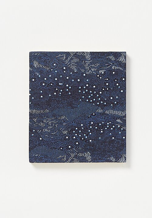 Elam Handprinted Japanese Chiyogami Paper Notebook Night Flowers