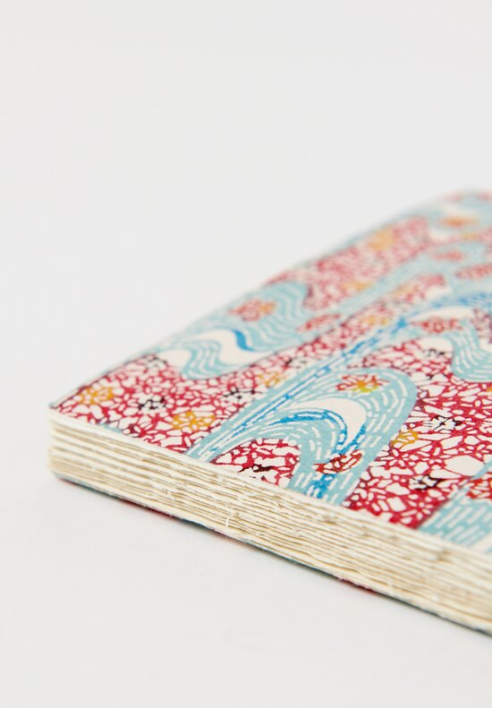 Elam Handprinted Japanese Chiyogami Paper Notebook in River