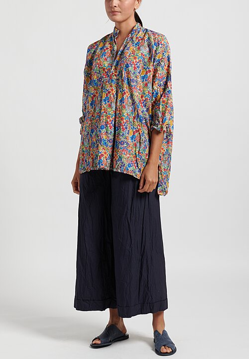 Daniela Gregis Washed Chicory Kora Top in Blue
