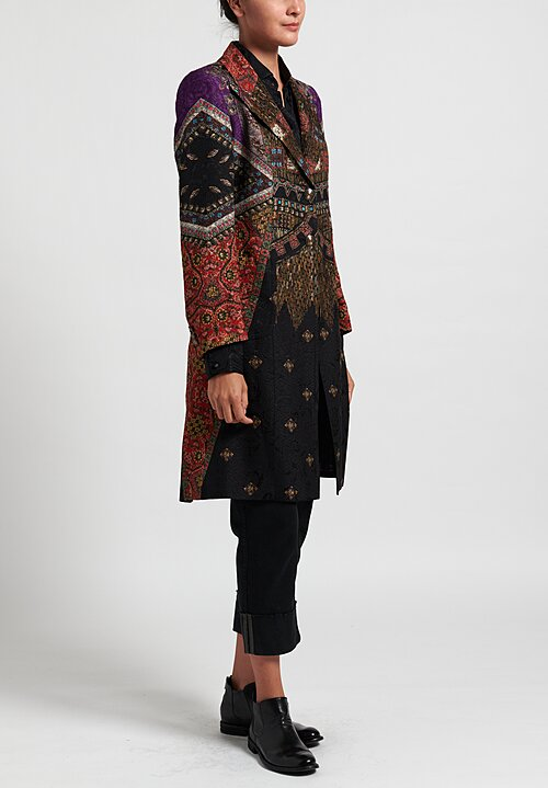 Etro Multiprint Coat in Black