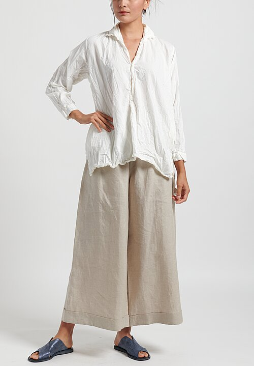 Daniela Gregis Washed Cotton Fratello Top in Cream