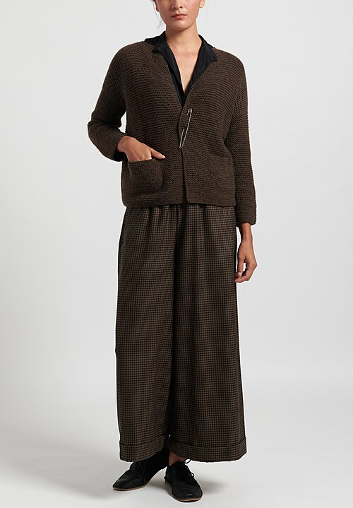 Daniela Gregis Hand-Knit Cardigan in Brown
