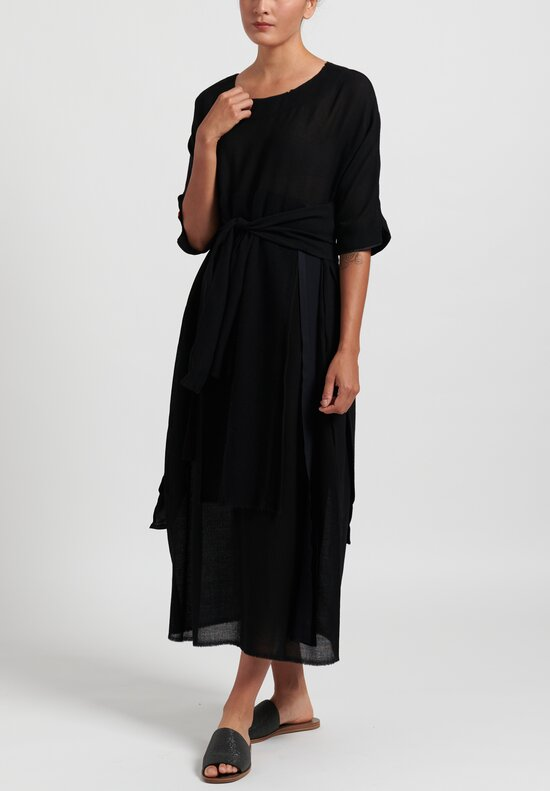 Daniela Gregis Petal Dress in Black
