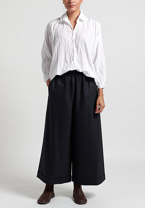Daniela Gregis Wool Pragmatic Patterned Pant in Black/ Anthracite