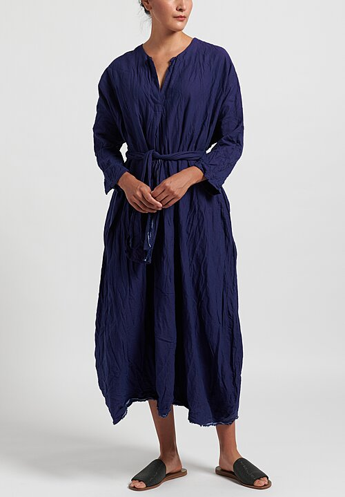 Daniela Gregis Oversize Solid Washed Chicory Dress in Blue