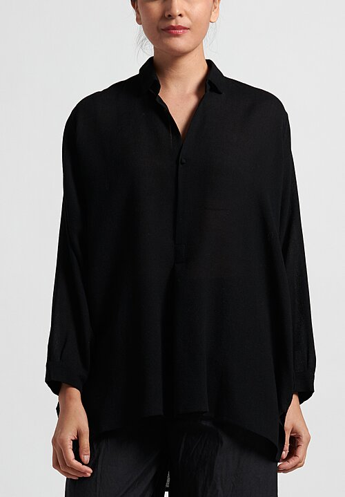 Daniela Gregis Large Fratello Top in Black