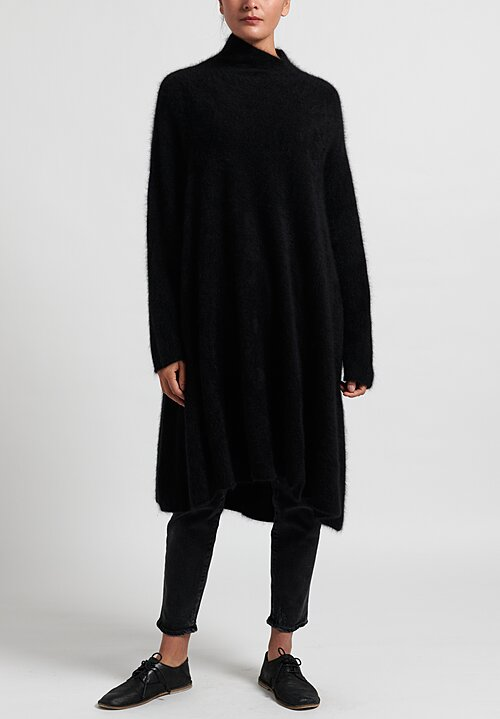 Rundholz Raccoon Hair/ Cashmere Long Knitted Tunic