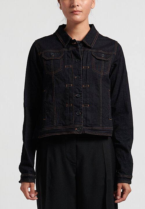 Rundholz Black Label Point Collar, Gathered Jacket in Steel Orange