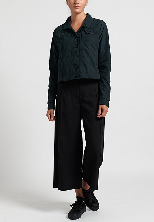 Rundholz Black Label Lightweight Point Collar Jacket in Green