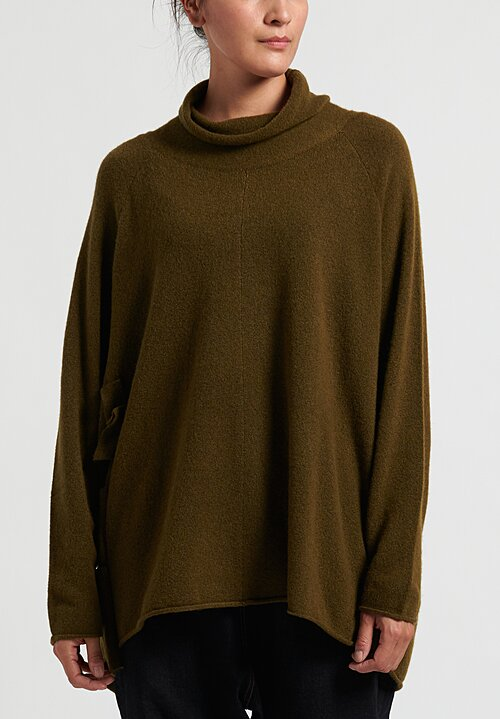 Rundholz Black Label Wide Neck Sweater Tunic in Curry