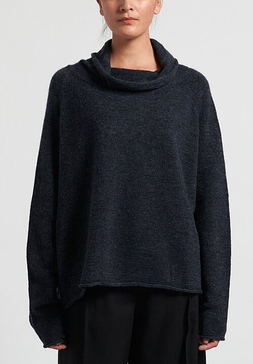 Rundholz Black Label Cowl Neck Pullover in Petrol