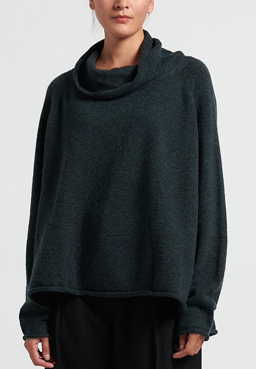 Rundholz Black Label Cowl Neck Pullover in Bottle