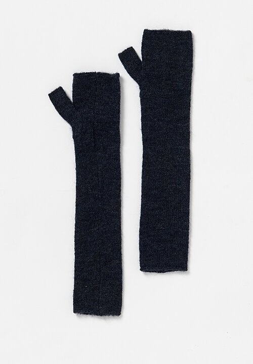 Rundholz Black Label Fingerless Elbow Length Gloves in Petrol