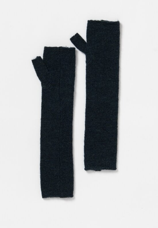 Rundholz Black Label Fingerless Elbow Length Gloves in Bottle