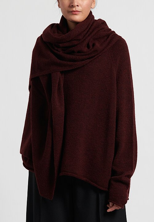 Rundholz Black Label Knitted Rectangle Scarf in Merlot