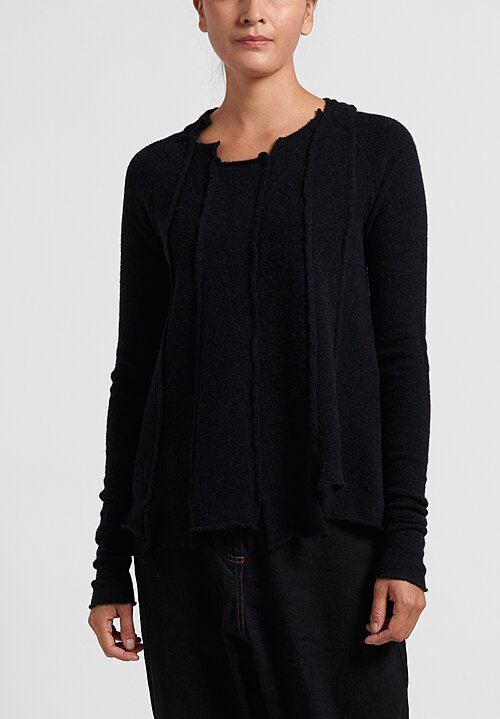 Rundholz Black Label Multi-Panel Long Pullover in Black