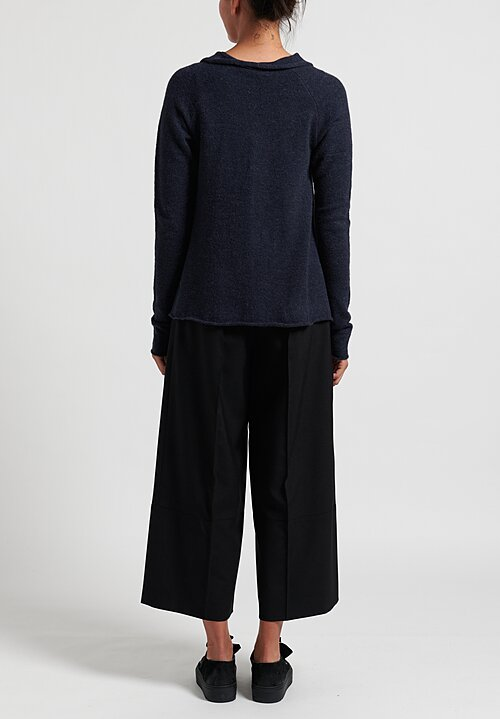 Rundholz Black Label Multi-Panel Long Pullover in Petrol