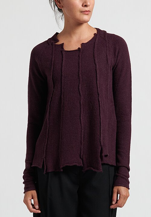 Rundholz Black Label Multi-Panel Long Pullover in Merlot