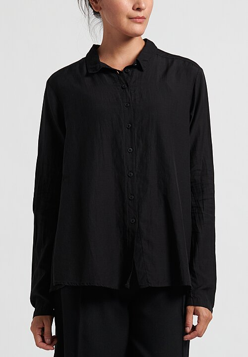Rundholz Black Label Gathered Back Blouse in Black