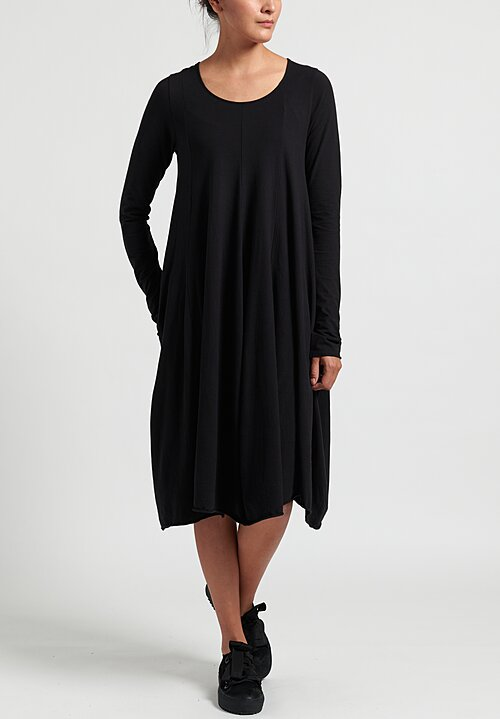 Rundholz Black Label Cotton Panel Dress in Black