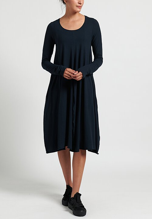 Rundholz Black Label Cotton Panel Dress in Petrol