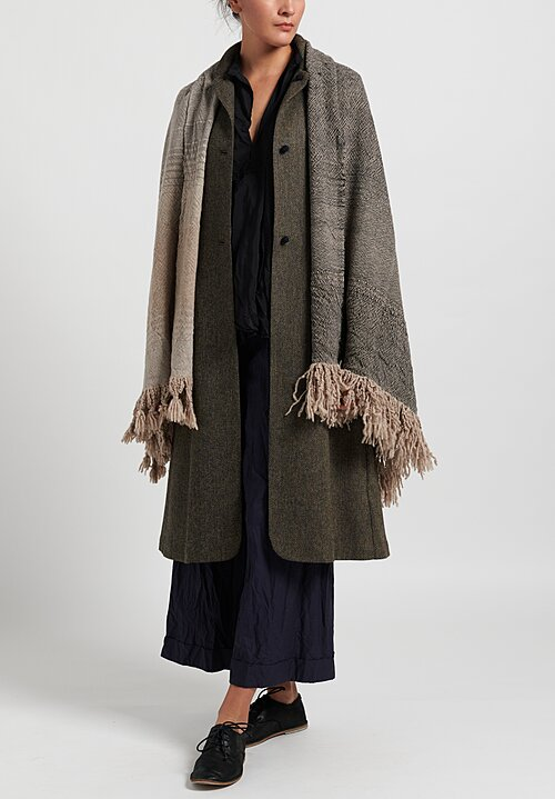 Daniela Gregis Washed Cashmere Root Shawl in Grey Natural