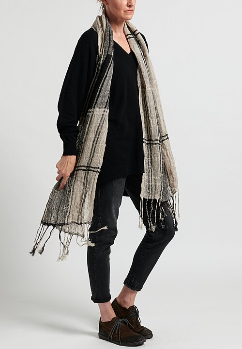 Christopher Duncan Illusion IV Scarf Natural/ Black
