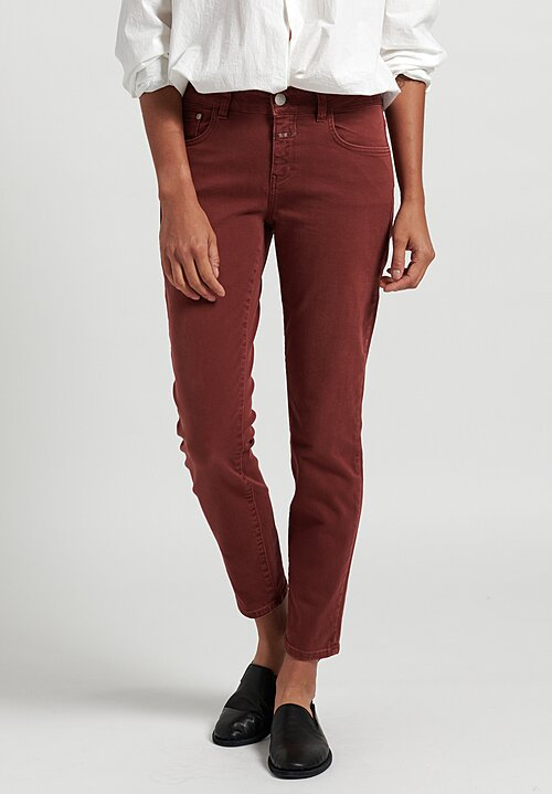 Closed Baker Narrow Jeans in Maroon