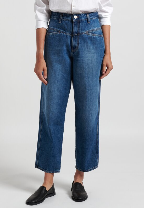 Closed Worker '85 High-Rise Jeans in Mid-Blue