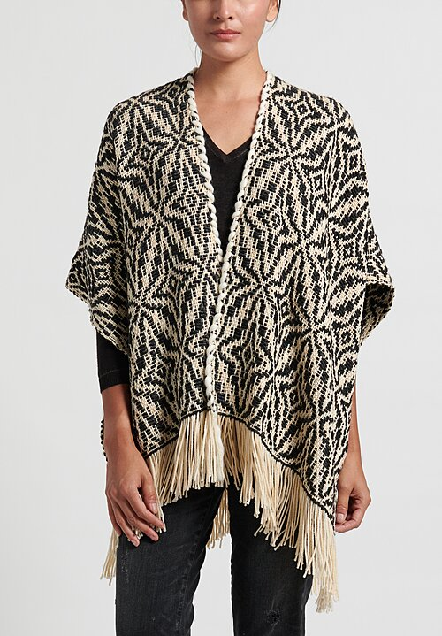 Wehve Merino Oversized Ava Cape in Enchanting Winter
