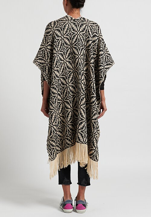 Wehve Anda Long Oversized Cape in Enchanting Winter