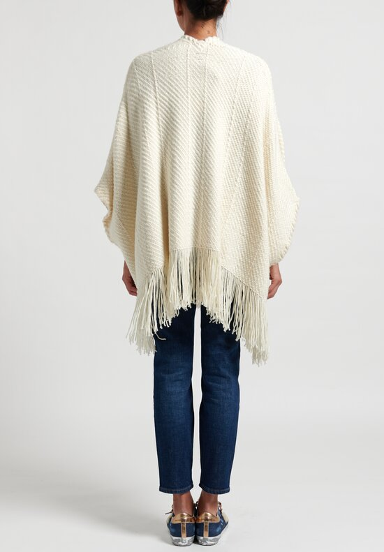 Wehve Billy Loose Cardigan Poncho in Ivoire