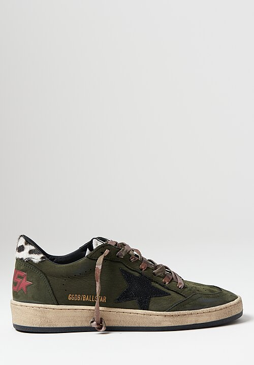 Golden Goose Ball Star Sneakers in Green