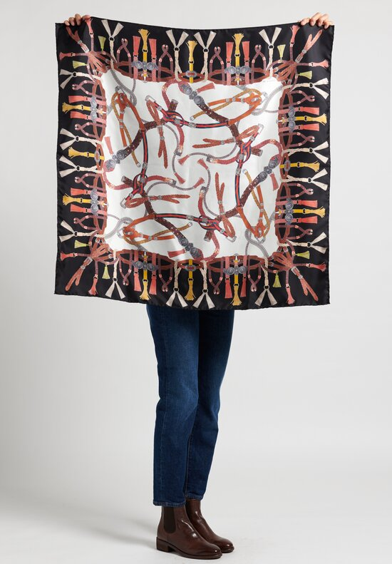 Etro Entangled Belt Print Foulard in Black