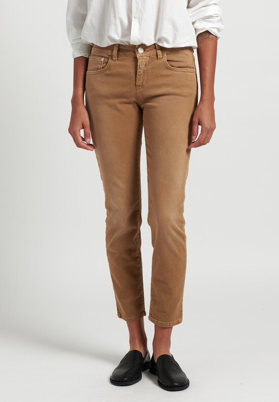 Closed Baker Mid-Rise Jeans in Gold