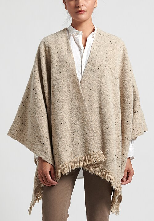 Lauren Manoogian Merino Wool Handwoven Tweed Poncho