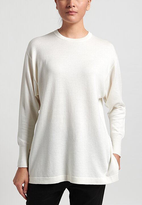Nells Nelson Crewneck Sweater in White