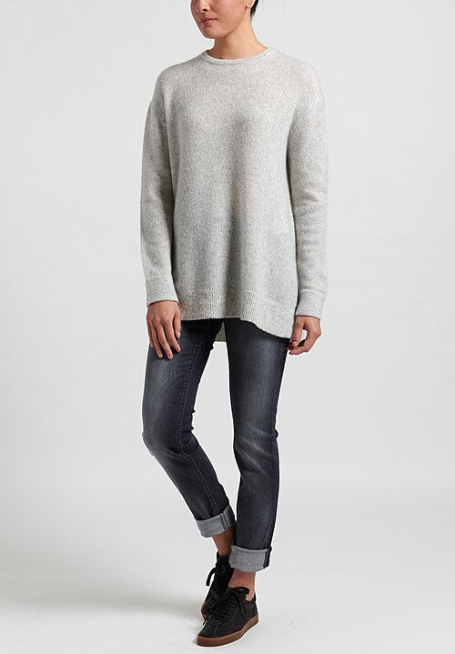Nells Nelson Crew Neck Sweater in Haze Grey