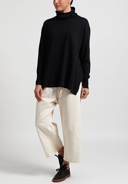 Nells Nelson Silk/Cotton Drape Neck Sweater