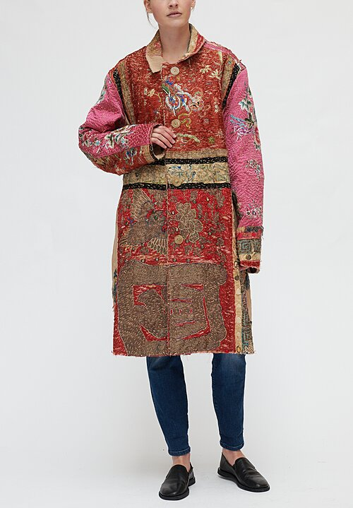 By Walid Chinese Embroidery Wadded Rufus Coat