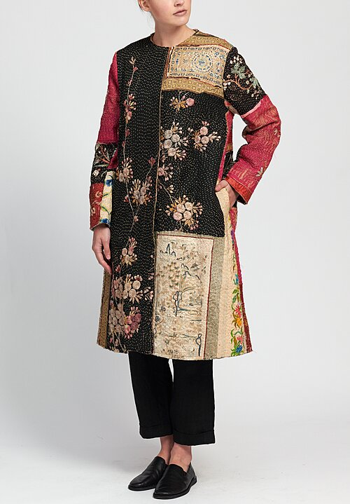 By Walid Silk Chinese Panel Tanita Coat