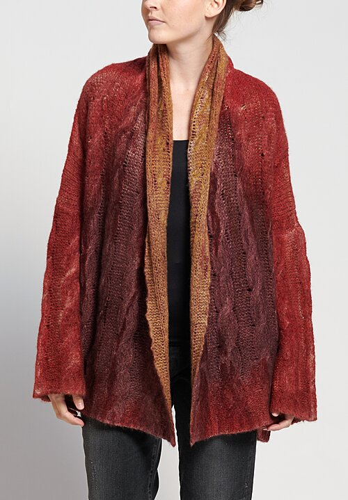f Cashmere Marianne Cardigan in Red Orange