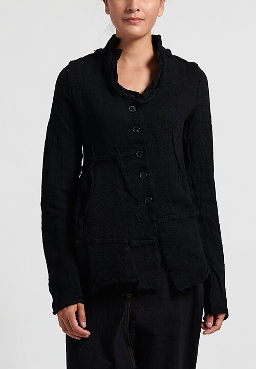 Rundholz Black Label Virgin Wool Asymmetric Fitted Cardigan
